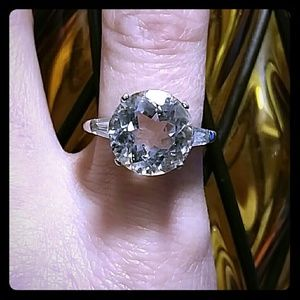 LARGE HERKIMER DIAMOND QUARTZ RING